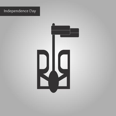 ministry: black and white style icon emblem of Ukraine Illustration
