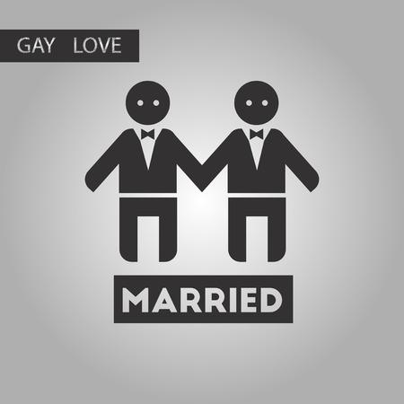 newlyweds: black and white style icon gays newlyweds wedding