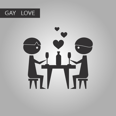 romantic dinner: black and white style icon gays romantic dinner