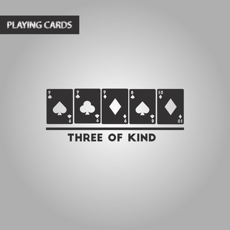 black and white style poker three of a kind