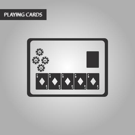 game show: black and white style poker board card chip