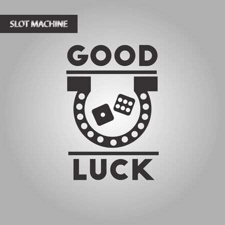 luckiness: black and white style poker good luck logo