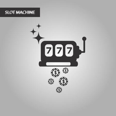 winnings: black and white style slot machine winnings