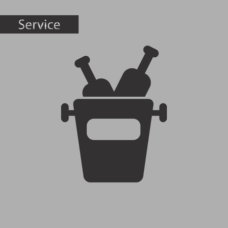 refrigerated: black and white style wine bottle bucket
