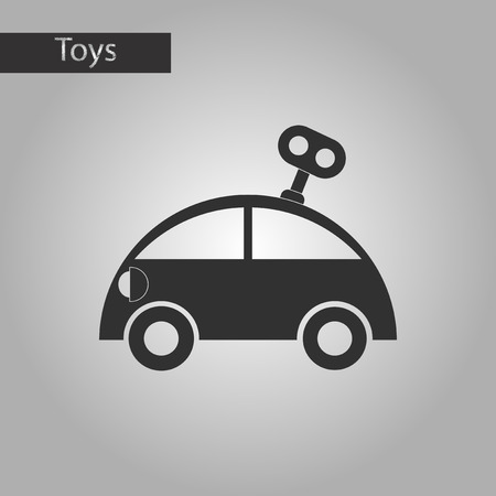 printed machine: black and white style Kids toy car with key