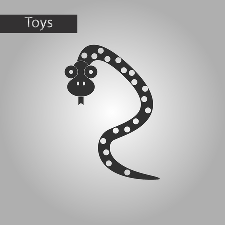 anaconda: black and white style Kids toy snake
