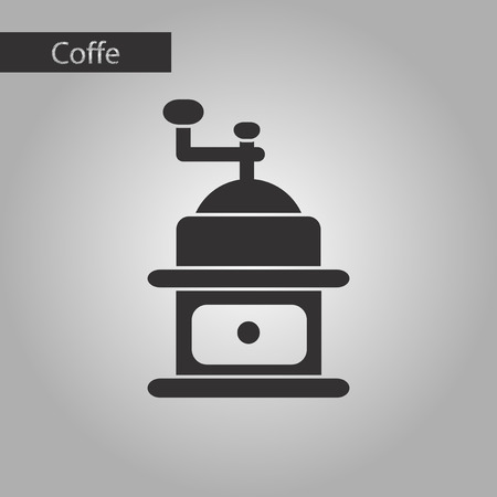 coffee mill: black and white style coffee mill grinder Illustration