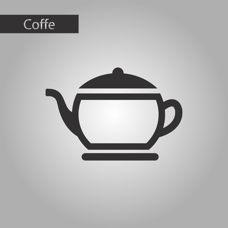 coffee maker: black and white style steel coffee maker Illustration