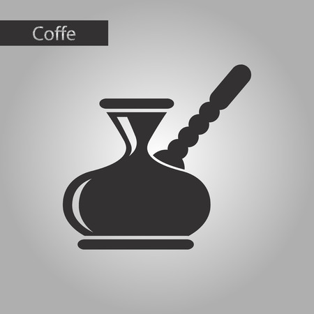 black and white style coffee arabic turk