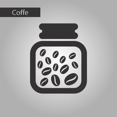 white beans: black and white style icon coffee jar of beans