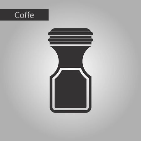 coffee jar: black and white style icon coffee jar Illustration