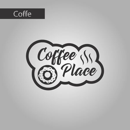 hangout: black and white style icon coffee drink place logo