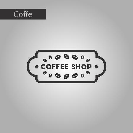 coffee icon: black and white style icon Coffee shop logo