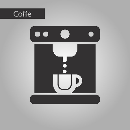 black and white style icon coffee electronic machine