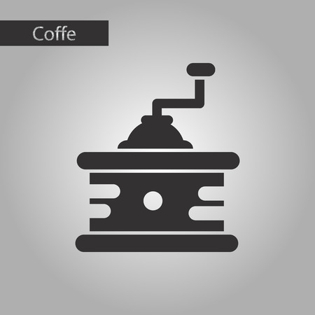 coffee mill: black and white style icon coffee mill grinder