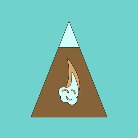 avalanche: flat icon on stylish background snow avalanche