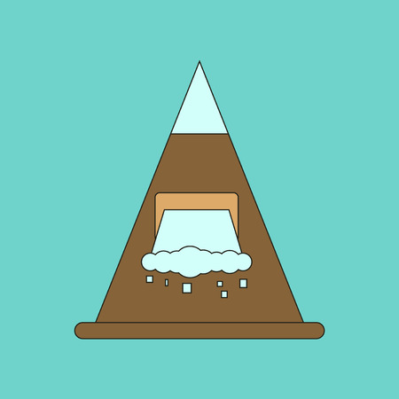 flat icon on stylish background snow avalanche