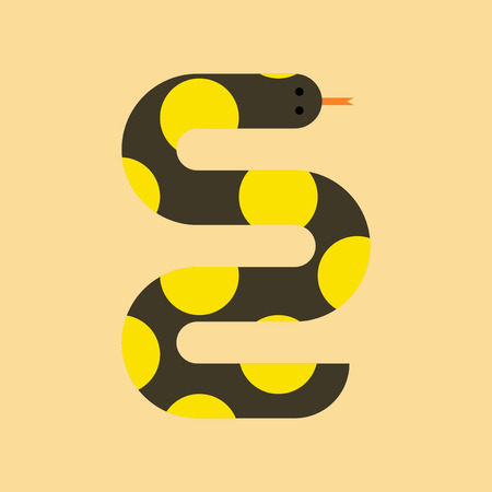 anaconda: flat icon on stylish background wildlife snake