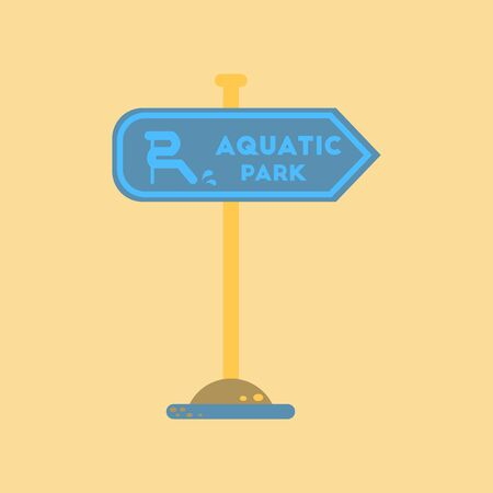 aquatic: flat icon on stylish background sign aquatic park Illustration