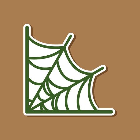 paper sticker on stylish background of spiders web Illustration