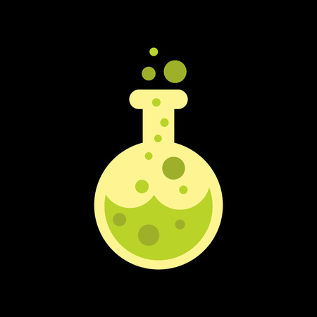 potion: flat icon on stylish background halloween potion bottle