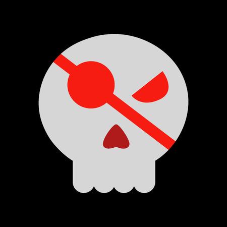 flat icon on stylish background halloween emotion skull