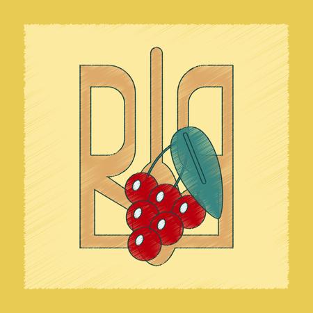 senate: flat shading style icon emblem of Ukraine