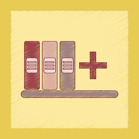 coordinated: flat shading style icon of shelf folder