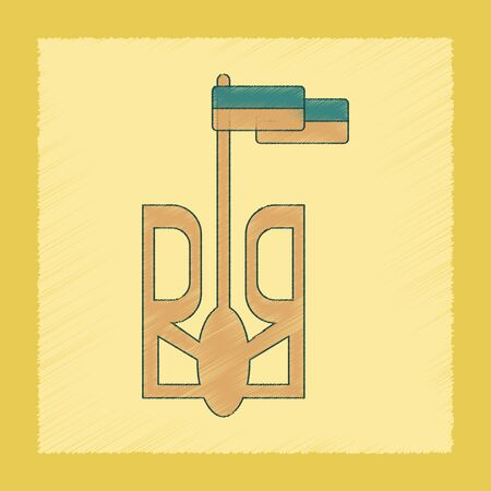 senate: flat shading style icon of emblem Ukraine