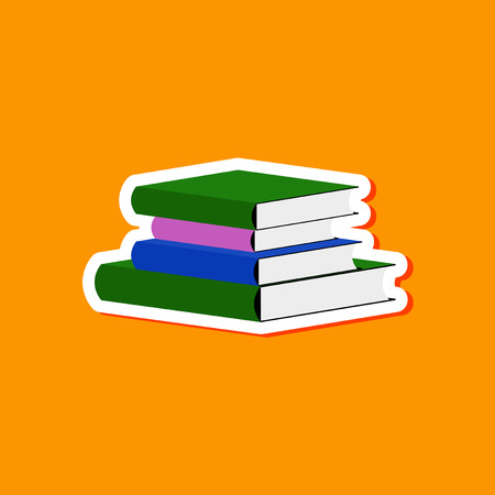 papier autocollant sur fond élégant de livres de la pile Vecteurs