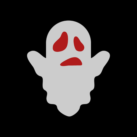 flat icon on stylish background Halloween ghost
