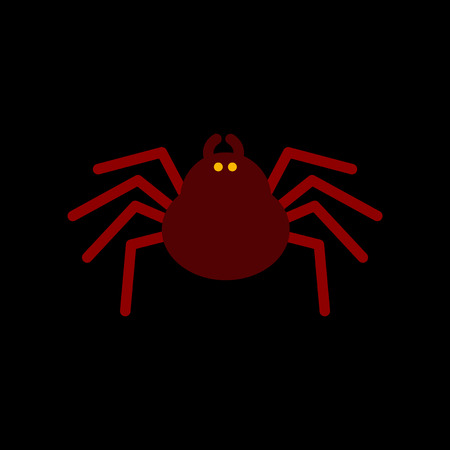 tarantula: flat icon on stylish background halloween spider