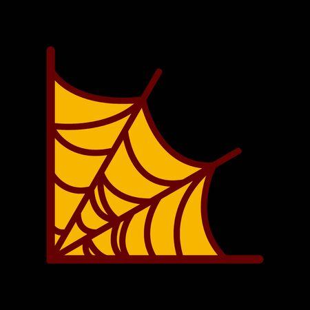 frightful: flat icon on stylish background spiders web