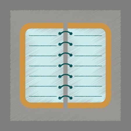 spiral notebook: flat shading style icon of spiral notepad notebook Illustration