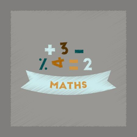 math icon: flat shading style icon of math lesson