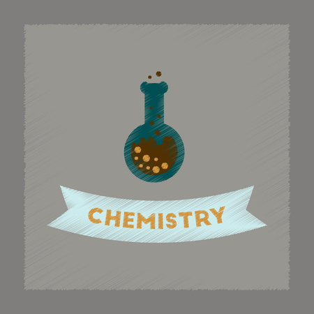 chemistry lesson: flat shading style icon of chemistry lesson