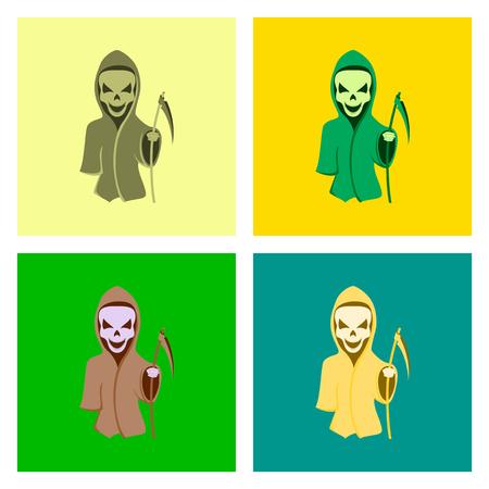 guada�a: el montaje de piso ilustraci�n guada�a de la muerte de Halloween