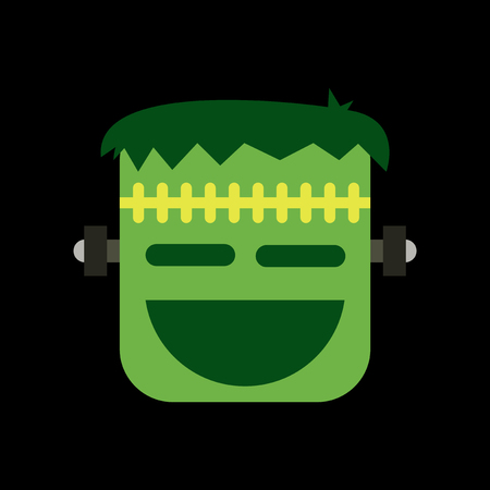 flat icon on stylish background of halloween monster