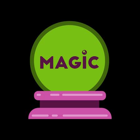 christal: flat icon on stylish background of magic ball