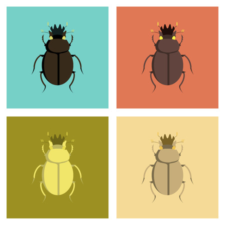 scarab: assembly of flat Illustrations egypt bug scarab Illustration