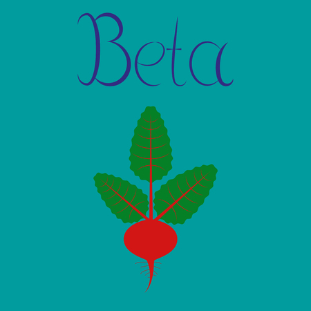 flat illustration on stylish background plant beta Illusztráció