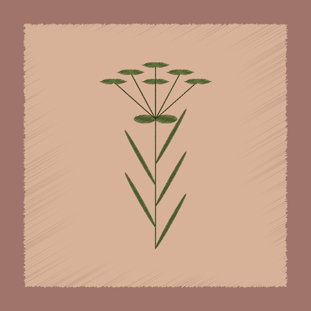 flat shading style icon of herb Linaria