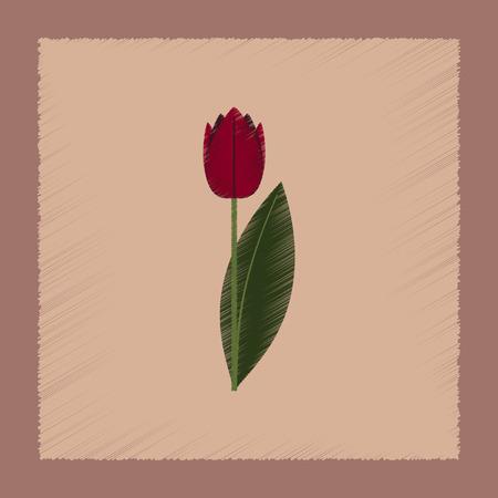 plantae: flat shading style Illustrations of plant Tulipa Illustration