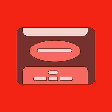 winchester: flat illustration on stylish background removable hard drive Illustration