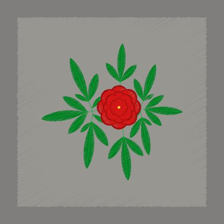 flat shading style illustration of flower paeonia Illustration