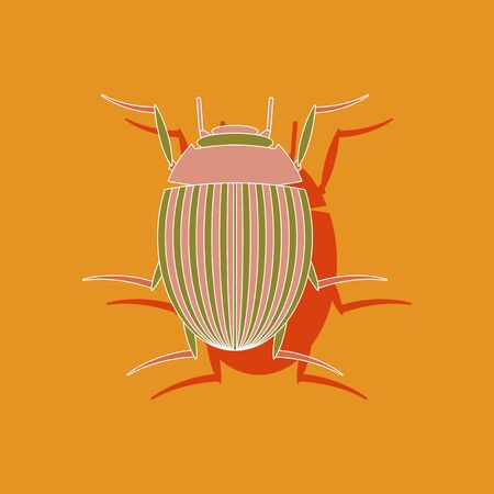 colorado: paper sticker on stylish background of Colorado Illustration