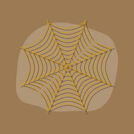 papier sticker op stijlvolle achtergrond van spinneweb Stock Illustratie
