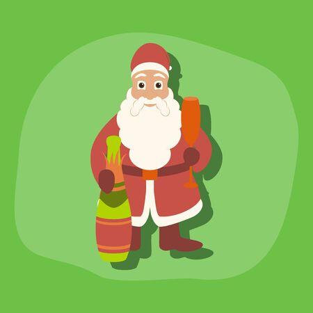 paper sticker on stylish background of Santa Claus
