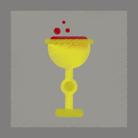 elixir: flat shading style icon of cup potion