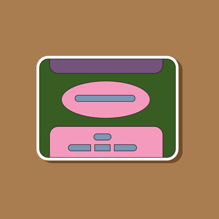 winchester: paper sticker on stylish background of removable hard drive
